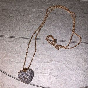 Swarovski Gold/Silver Heart Necklace